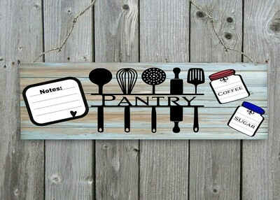 """Pantry with notepad "" Door/Wall Sign"