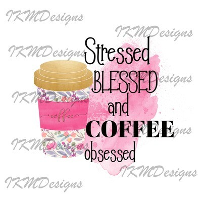 """""""Stressed Blessed/pink ..."""" Printable Sublimation File"""
