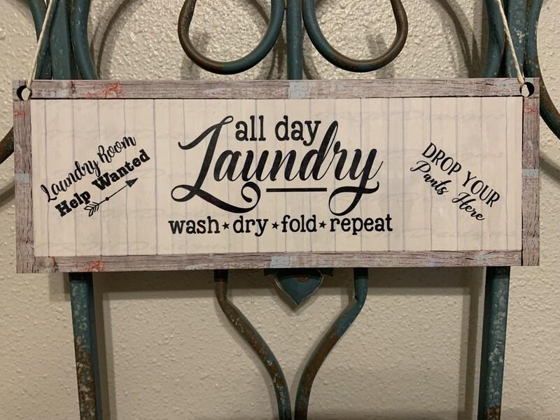 Farmhouse Style Laundry Room Door/Wall hanger