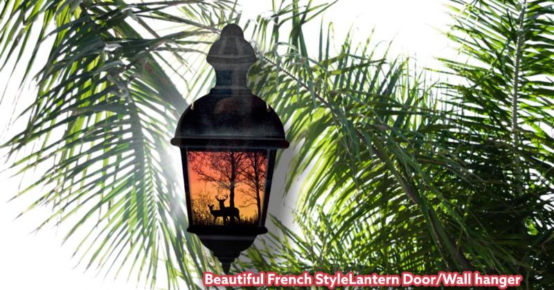 Beautiful French StyleLantern Door/Wall hanger