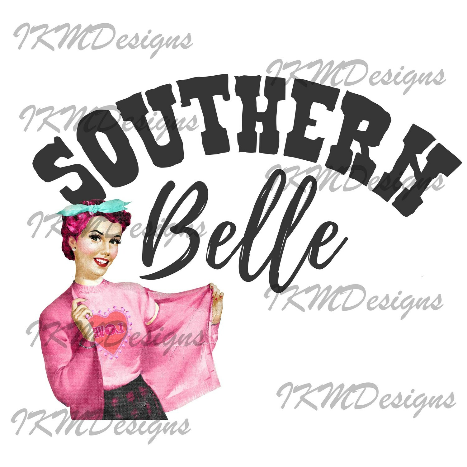 Southern Belle  Printable Sublimation File