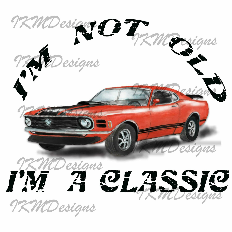 Classic Car - Printable - Sublimation File