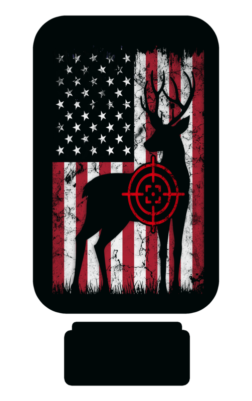 Hunting Flag Quarter Toss Game for Sublimation