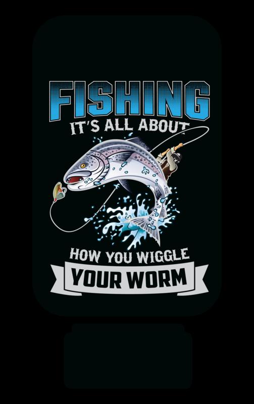 Fishing Design for Quarter Toss Game Sublimation