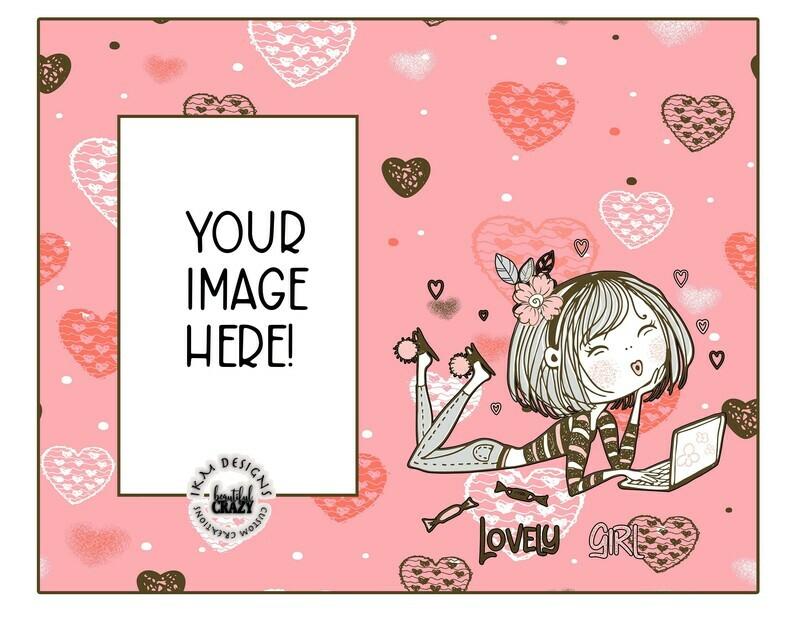 Lovely Girl Digital Design, Sublimation Download PNG