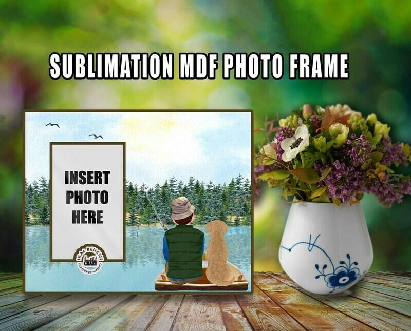 Printable Sublimation File for 8x10 MDF Frame.
