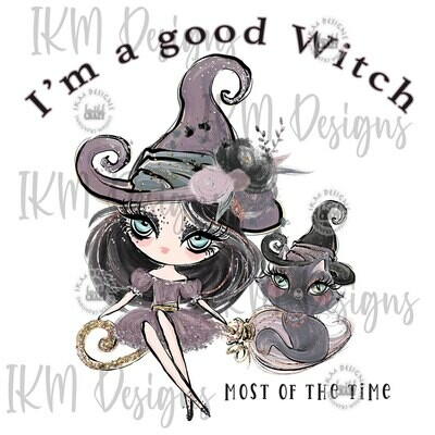 Good Witch Digital Designs Sublimation PNG