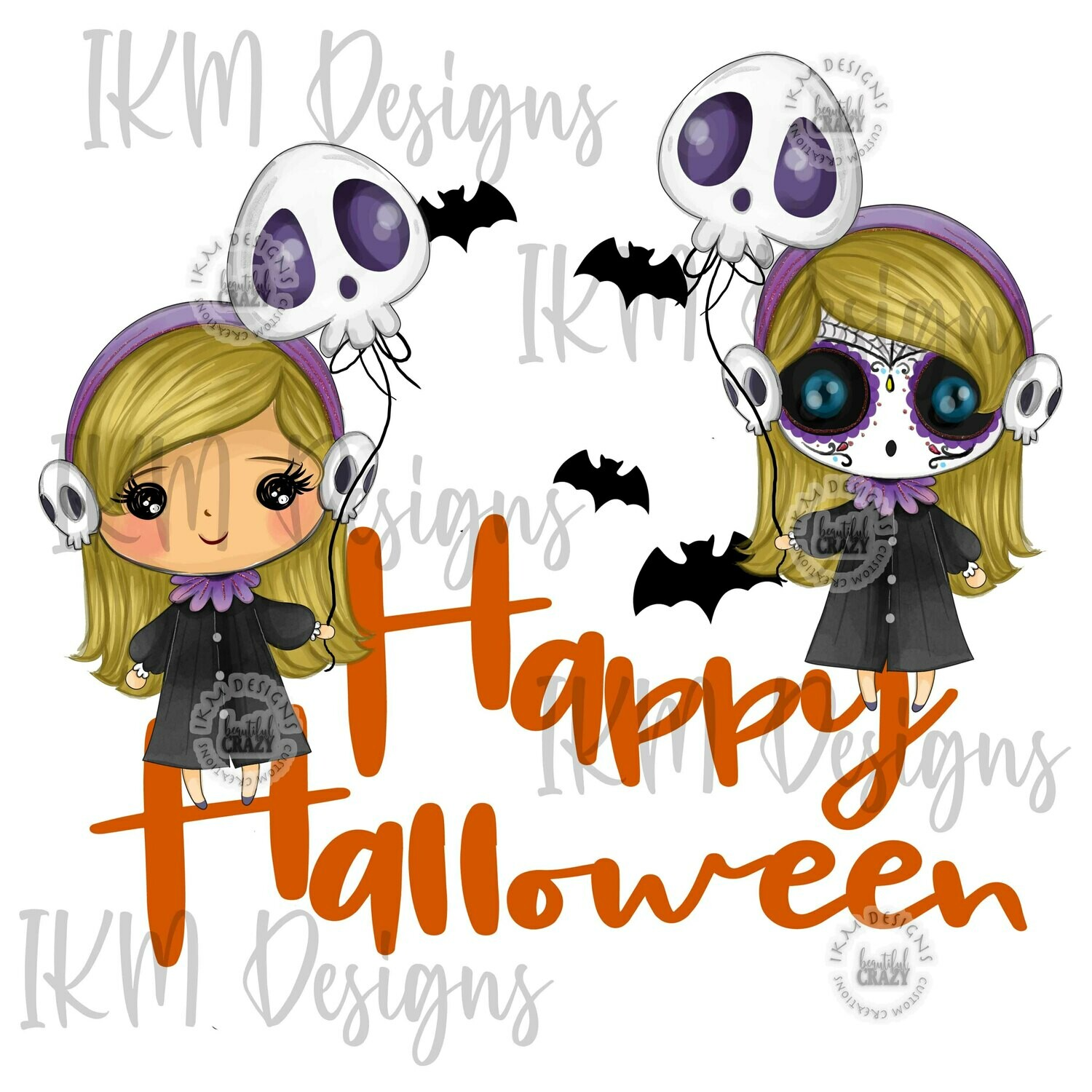 """ Happy Halloween"" Digital Designs Sublimation PNG"