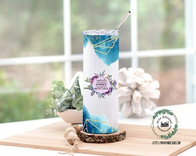 Cinderella Skinny Tumbler Lid/Straw included