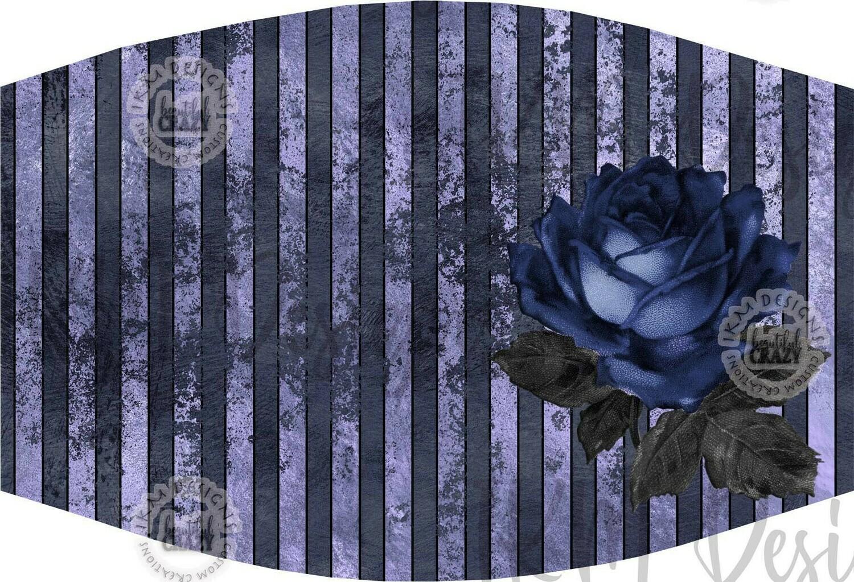 """""""Blue Rose2"""" Mask/ Digital Design Sublimation"""
