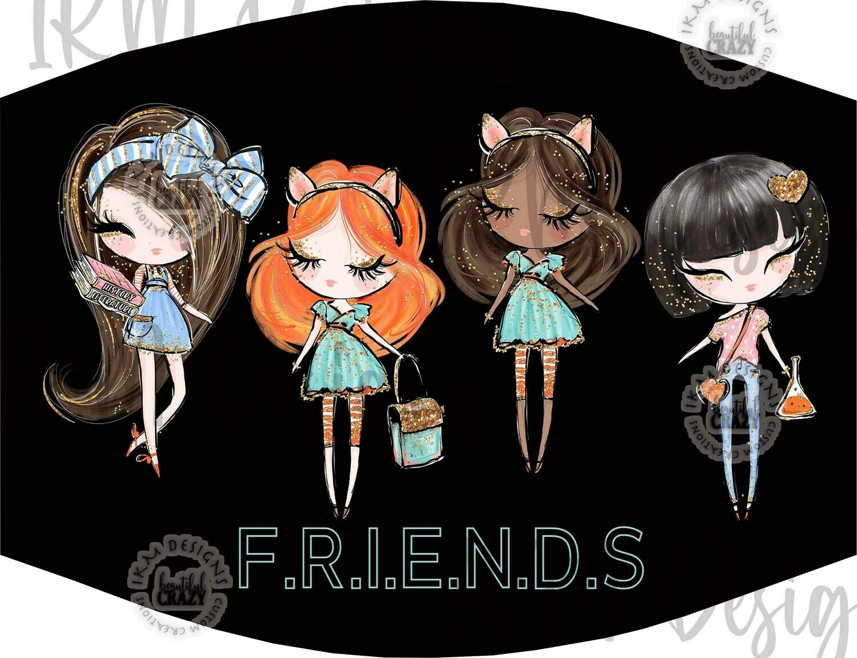 """""""Friends"""" Mask/ Digital Design Sublimation"""