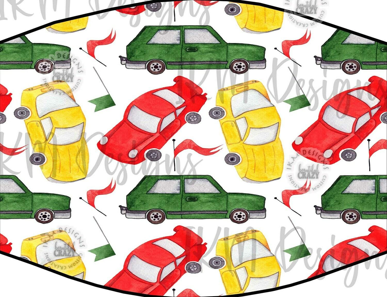 """""""Cars"""" Kids Mask/ Digital Design Sublimation"""