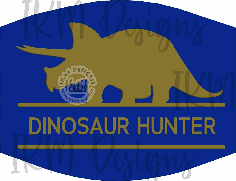 """Kids Mask Design for Sublimation """"Dinosaur Hunter"""""""