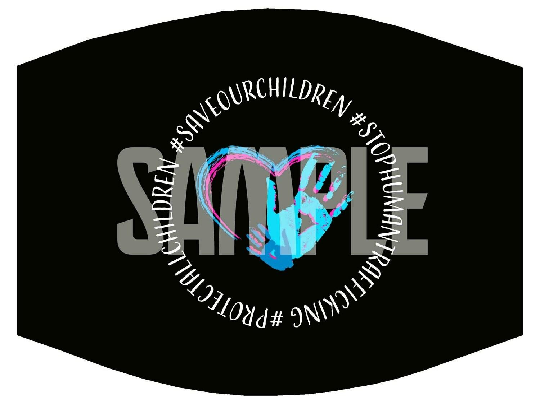"""SaveOurChildren"" Mask/ Digital Design Sublimation"