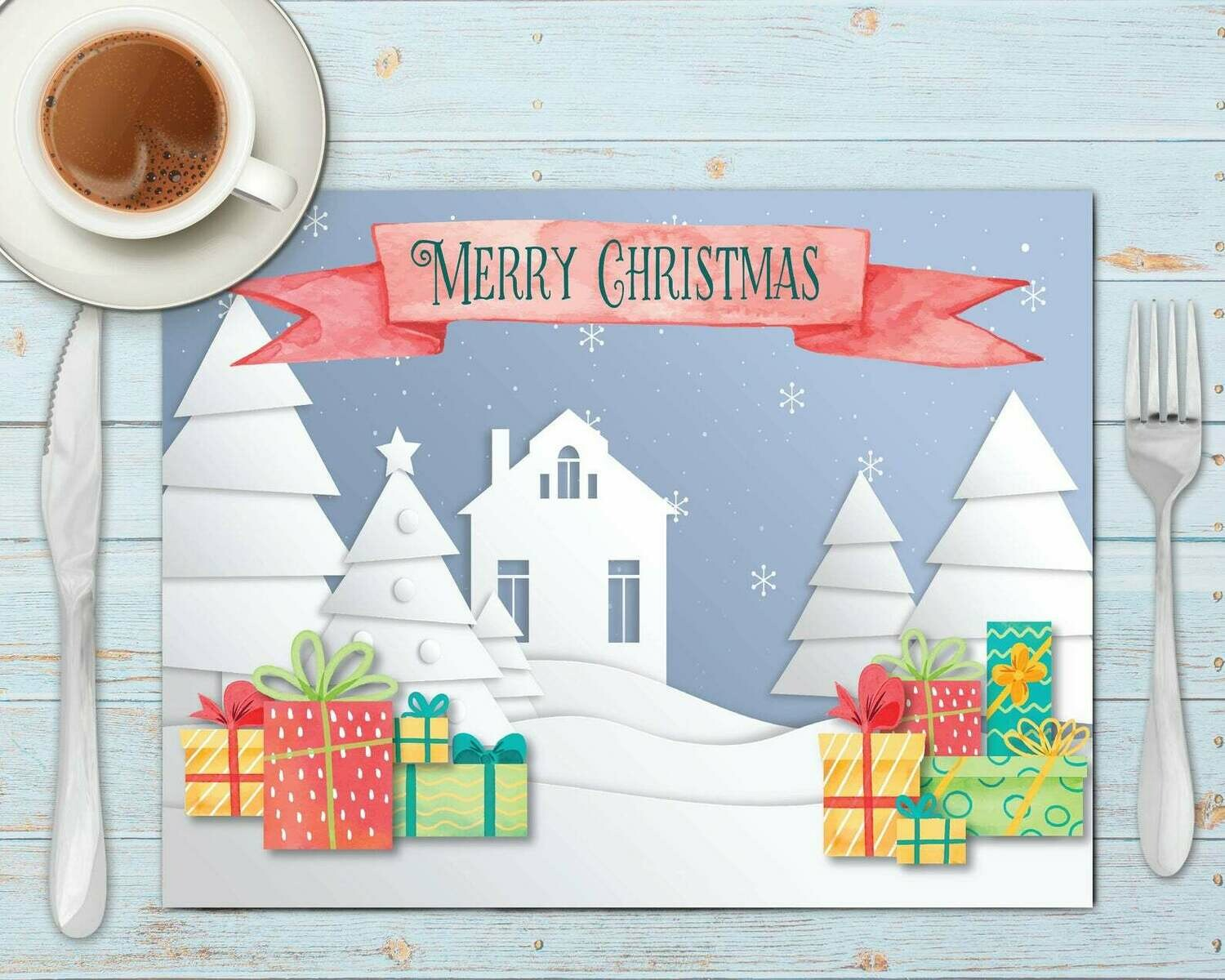 Christmas Town Placemat