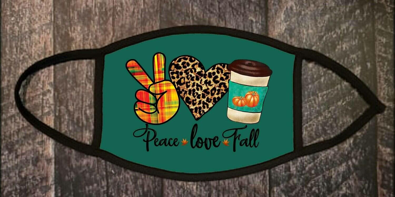 """Peace Love Fall"" Non-medical Mask"