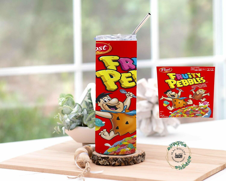 Fruity Pepples Skinny Tumbler Lid/Straw included