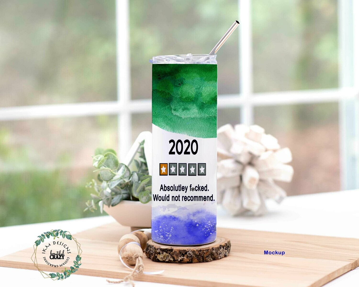 2020 Skinny Tumbler Lid/Straw included