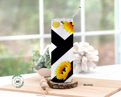 Sun Flowers  Skinny Tumbler Lid/Straw included