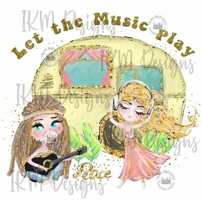 """""""Let the Music Play"""" Digital Download for Sublimation"""
