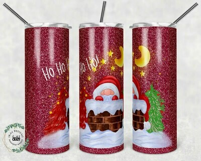 Fun Santa Claus sublimation template for 20oz Tumbler
