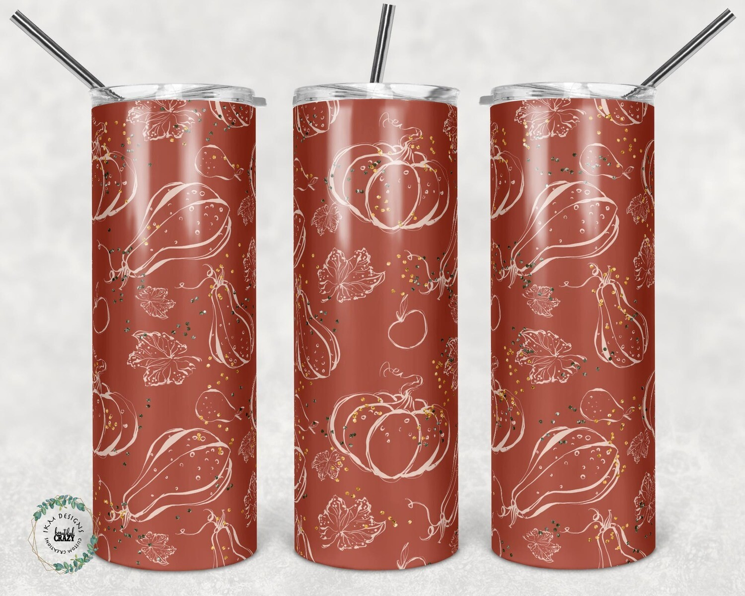 Holliday red/gold leaf Tumbler