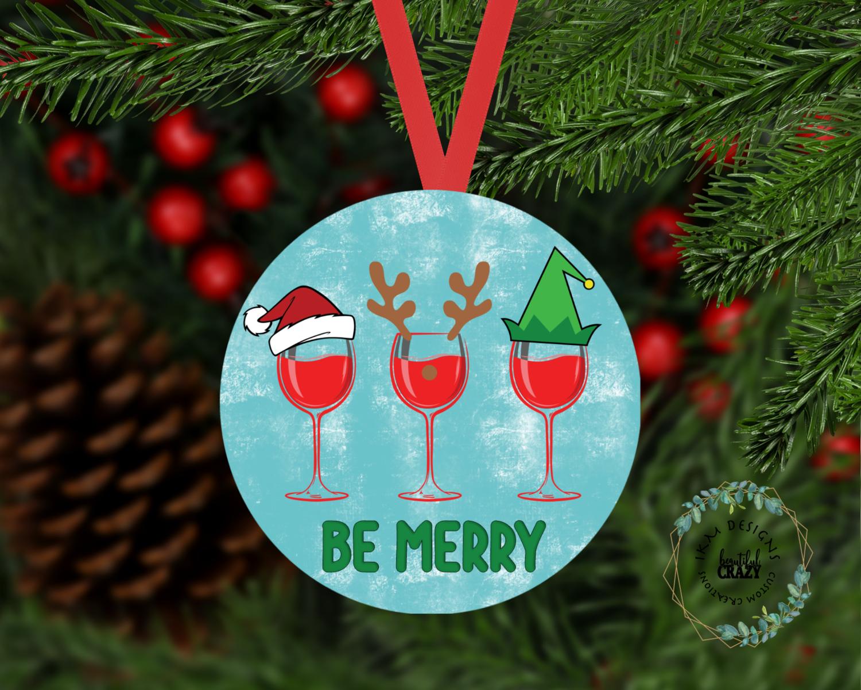 "Fun Ornament ""BE MERRY"""
