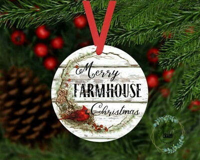 Merry Farmhouse Christmas Ornament