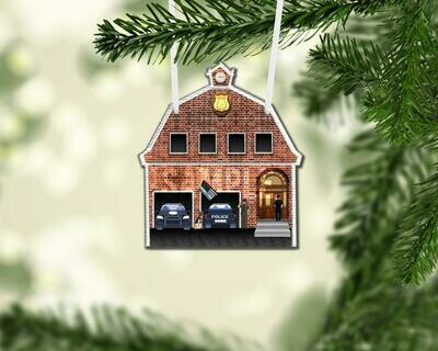 Support the Blue! Round Christmas Tree Ornament.