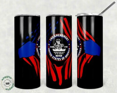 2nd Amendment Tumbler black/metal