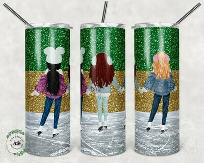 """""""Best Friends"""" template for 20oz skinny Tumbler."""