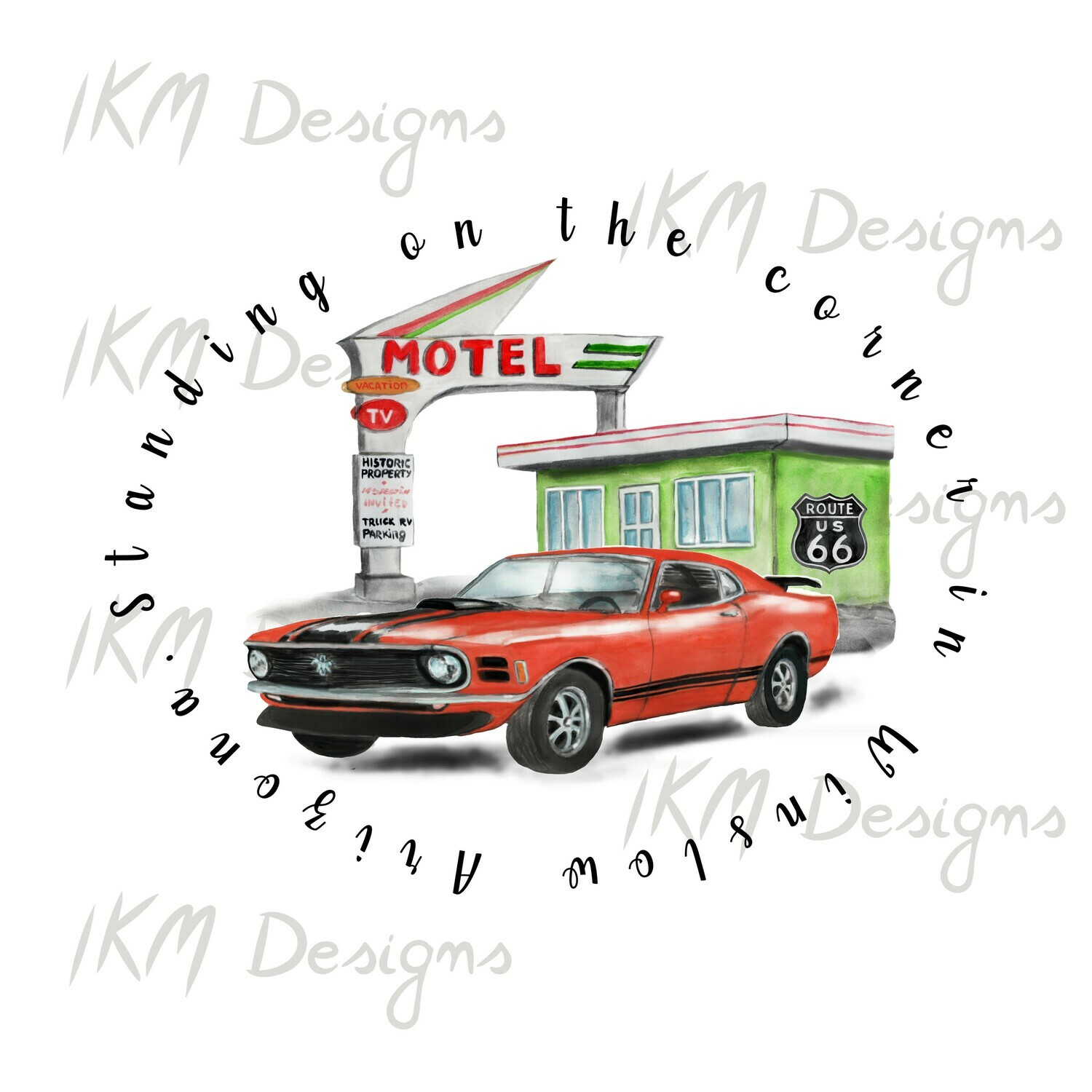 """Digital Download for Sublimation """"Route 66"""""""