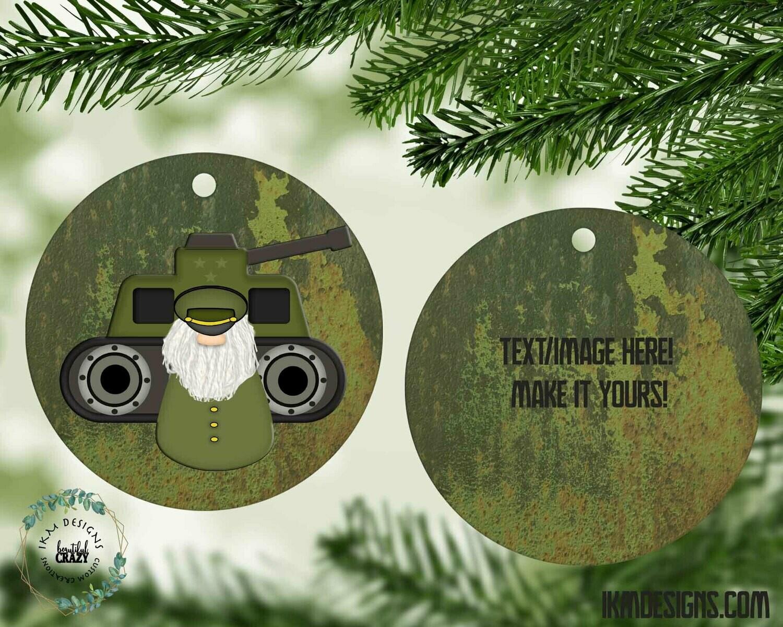 Hero's Christmas Tree Round Ornament