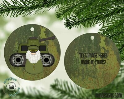 Hero's Christmas Tree Round Ornament