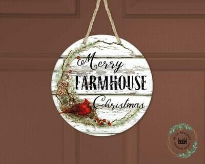 Farmhouse Style Christmas Door Hanger