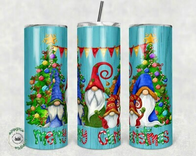 Merry Christmas template for 20oz Skinny Tumblers