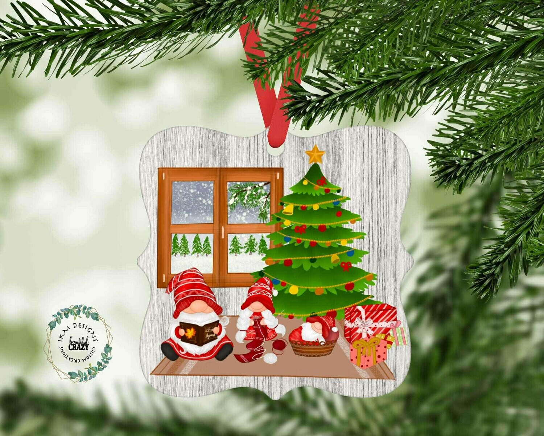 Christmas Gnome Family Ornament Sublimation