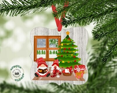 Christmas Gnome Family Ornament Sublimation
