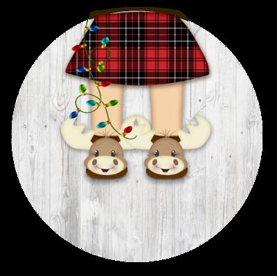 Moose slipper Ornament (Girl)
