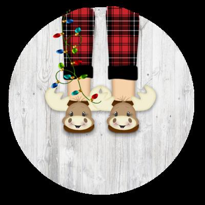 Moose slipper Ornament (Boy)