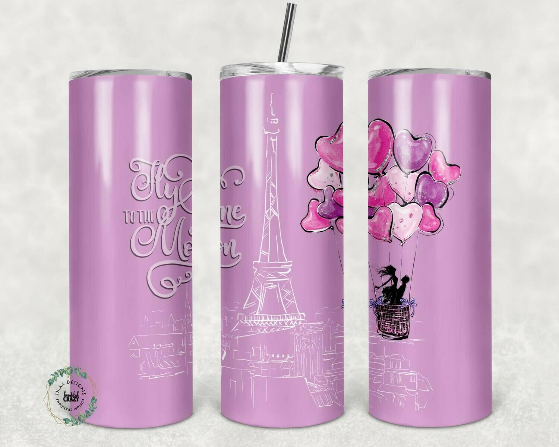 """20oz Skinny Tumbler Valentines Paris  "" Digital Download"
