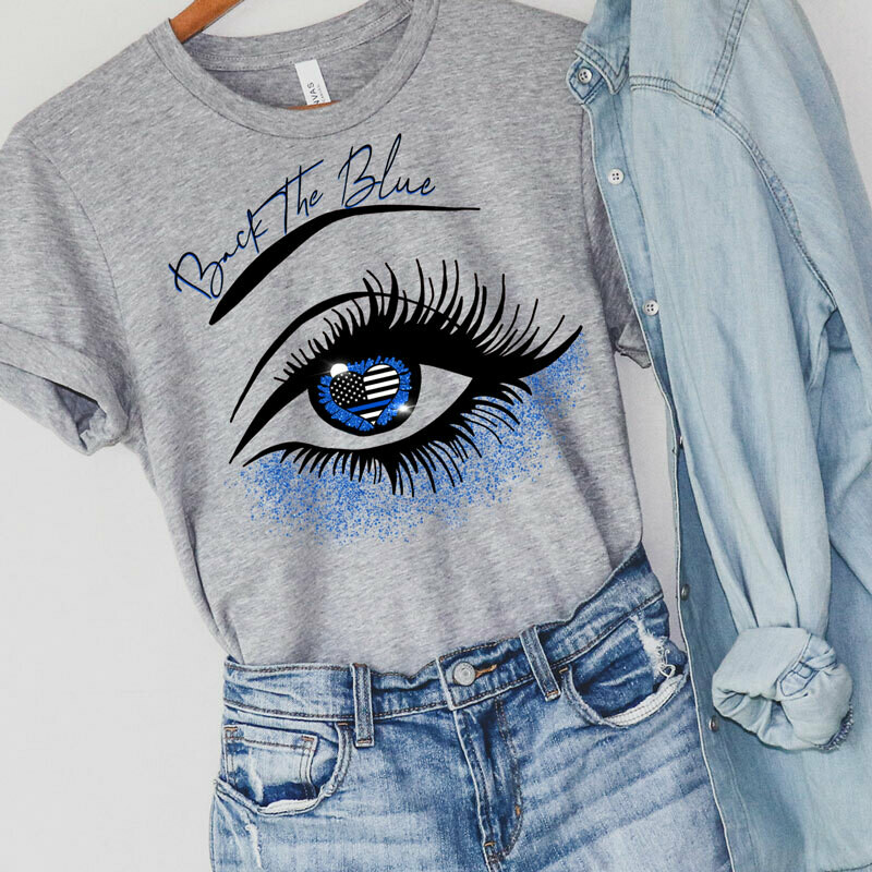 """Graphic T-Shirt """"Back the Blue""""."""