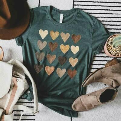 "Graphic T-Shirt ""Valentines Hears """