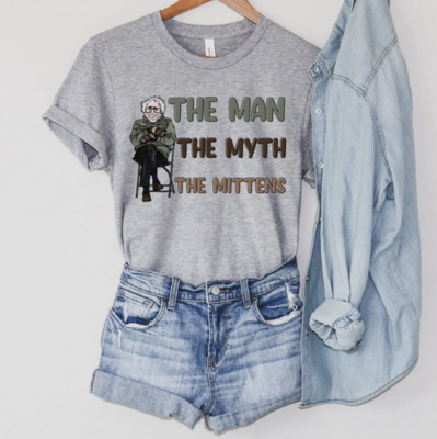 """Graphic T-Shirt """"The Man The Myth The Mittens"""""""