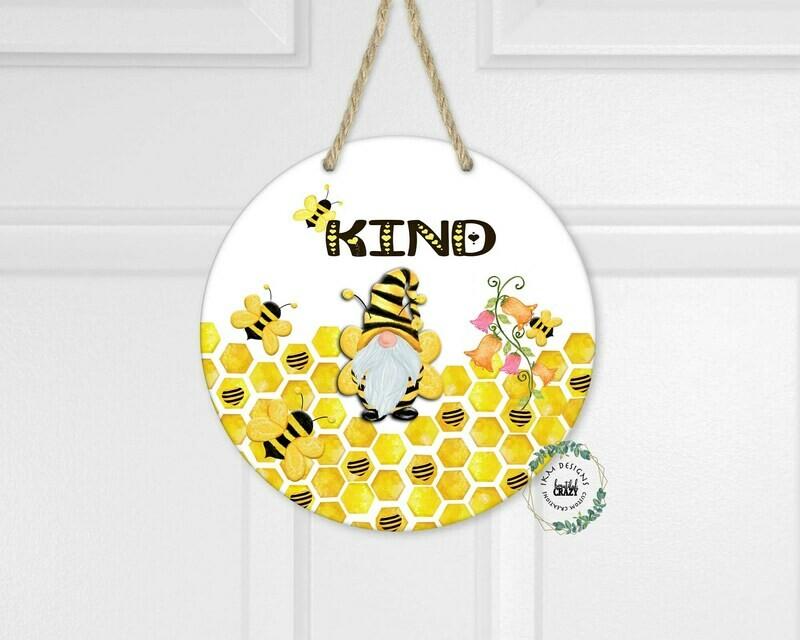Be Kind Round Digital Design for Sublimation