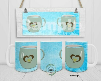Digital Design for 15oz Coffee Mug
