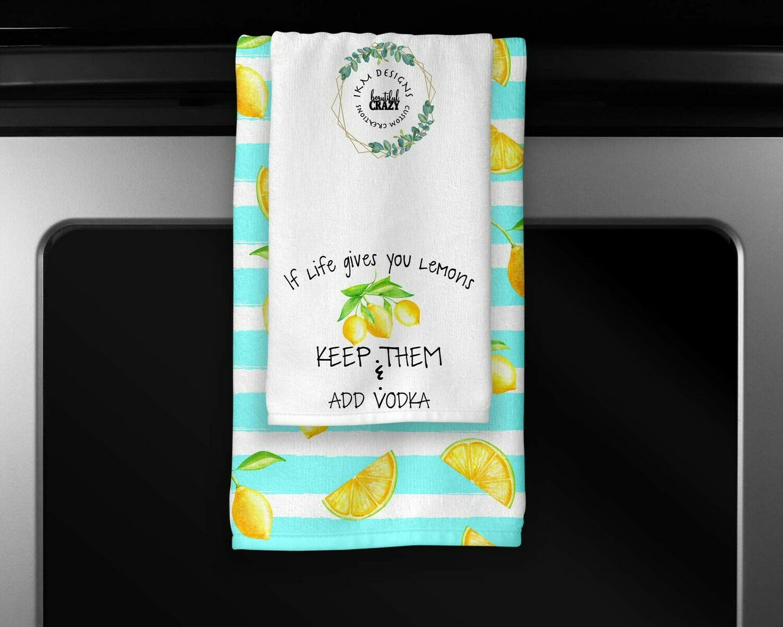 Welcome Lemon Towels Set