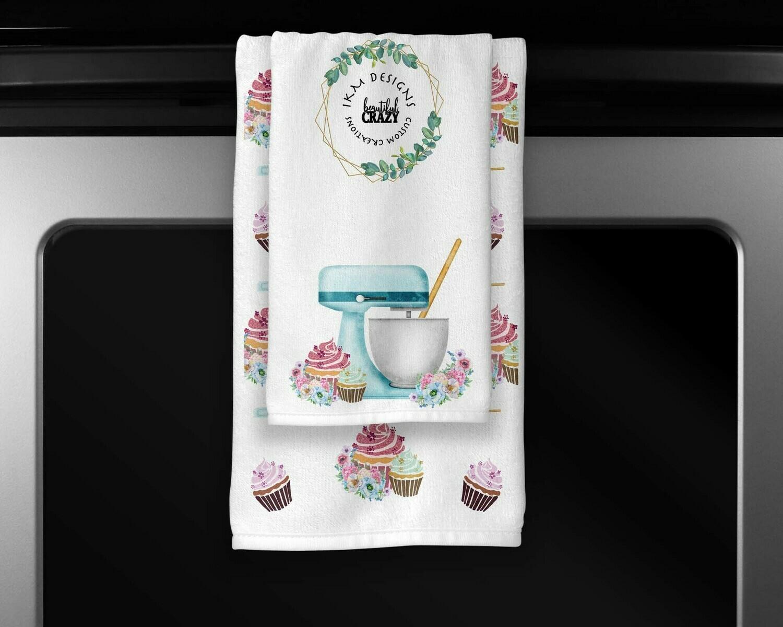 Welcome Cupcake/Baking Towels Set