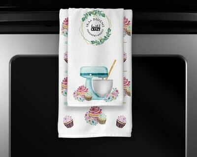 Welcome Cupcake/Baking Towels Set