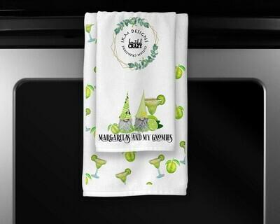 Margaritas & Gnomies Towels Set